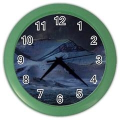 Landscape Night Lunar Sky Scene Color Wall Clocks by Celenk