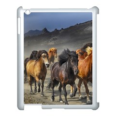Horses Stampede Nature Running Apple Ipad 3/4 Case (white) by Celenk
