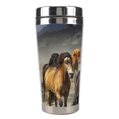 Horses Stampede Nature Running Stainless Steel Travel Tumblers by Celenk