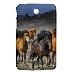Horses Stampede Nature Running Samsung Galaxy Tab 3 (7 ) P3200 Hardshell Case  by Celenk