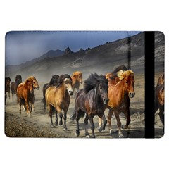 Horses Stampede Nature Running Ipad Air Flip by Celenk