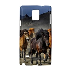 Horses Stampede Nature Running Samsung Galaxy Note 4 Hardshell Case by Celenk