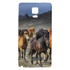 Horses Stampede Nature Running Galaxy Note 4 Back Case by Celenk