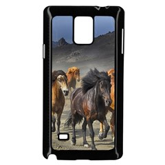 Horses Stampede Nature Running Samsung Galaxy Note 4 Case (black) by Celenk