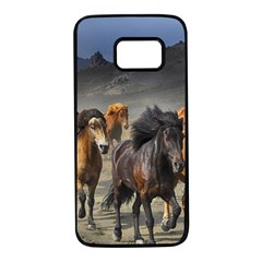 Horses Stampede Nature Running Samsung Galaxy S7 Black Seamless Case