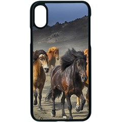 Horses Stampede Nature Running Apple Iphone X Seamless Case (black) by Celenk