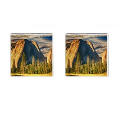 Mountains Landscape Rock Forest Cufflinks (square) by Celenk
