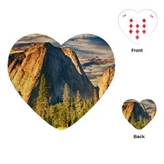 Mountains Landscape Rock Forest Playing Cards (heart)