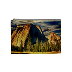 Mountains Landscape Rock Forest Cosmetic Bag (medium)  by Celenk