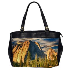Mountains Landscape Rock Forest Office Handbags (2 Sides)  by Celenk