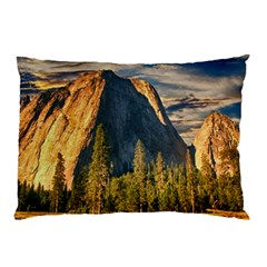 Mountains Landscape Rock Forest Pillow Case (two Sides)