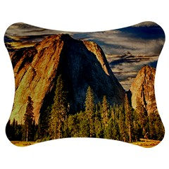 Mountains Landscape Rock Forest Jigsaw Puzzle Photo Stand (bow) by Celenk