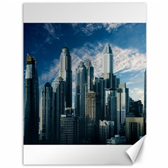 Skyscraper Cityline Urban Skyline Canvas 36  X 48   by Celenk