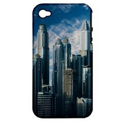 Skyscraper Cityline Urban Skyline Apple Iphone 4/4s Hardshell Case (pc+silicone) by Celenk