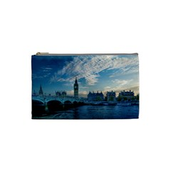 London Westminster Landmark England Cosmetic Bag (small)  by Celenk