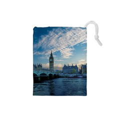 London Westminster Landmark England Drawstring Pouches (small)  by Celenk