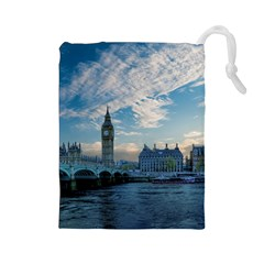 London Westminster Landmark England Drawstring Pouches (large)  by Celenk