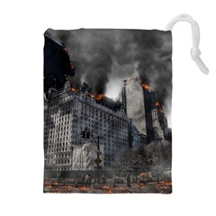 Apocalypse War Armageddon Drawstring Pouches (extra Large) by Celenk