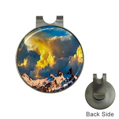 Mountains Clouds Landscape Scenic Hat Clips With Golf Markers