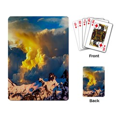 Mountains Clouds Landscape Scenic Playing Card by Celenk