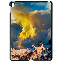 Mountains Clouds Landscape Scenic Apple Ipad Pro 9 7   Black Seamless Case by Celenk