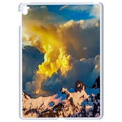 Mountains Clouds Landscape Scenic Apple Ipad Pro 9 7   White Seamless Case by Celenk