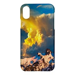 Mountains Clouds Landscape Scenic Apple Iphone X Hardshell Case