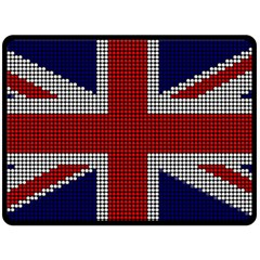 Union Jack Flag British Flag Fleece Blanket (large)  by Celenk