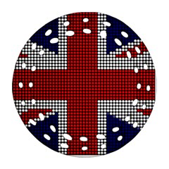 Union Jack Flag British Flag Ornament (round Filigree)