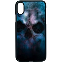 Skull Horror Halloween Death Dead Apple Iphone X Seamless Case (black) by Celenk