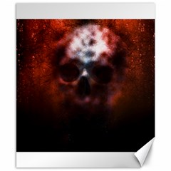 Skull Horror Halloween Death Dead Canvas 8  X 10  by Celenk