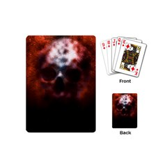 Skull Horror Halloween Death Dead Playing Cards (mini)  by Celenk