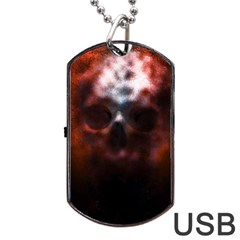 Skull Horror Halloween Death Dead Dog Tag Usb Flash (two Sides) by Celenk