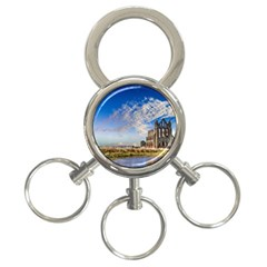 Ruin Church Ancient Architecture 3 Ring Key Chains