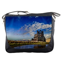 Ruin Church Ancient Architecture Messenger Bags
