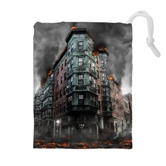 War Destruction Armageddon Disaster Drawstring Pouches (extra Large) by Celenk