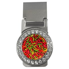 Chilli Pepper Spicy Hot Red Spice Money Clips (cz)
