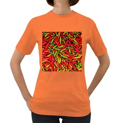 Chilli Pepper Spicy Hot Red Spice Women s Dark T Shirt