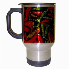 Chilli Pepper Spicy Hot Red Spice Travel Mug (silver Gray) by Celenk