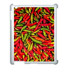 Chilli Pepper Spicy Hot Red Spice Apple Ipad 3/4 Case (white) by Celenk