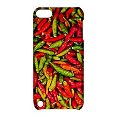 Chilli Pepper Spicy Hot Red Spice Apple Ipod Touch 5 Hardshell Case With Stand by Celenk