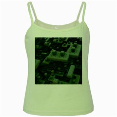 Backdrop Construction Pattern Green Spaghetti Tank by Celenk