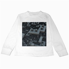 Backdrop Construction Pattern Kids Long Sleeve T Shirts by Celenk