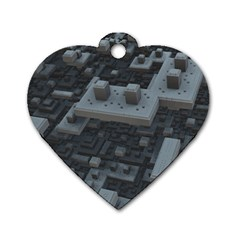 Backdrop Construction Pattern Dog Tag Heart (one Side)