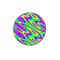 Lilac Yellow Wave Abstract Pattern Hat Clip Ball Marker