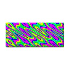 Lilac Yellow Wave Abstract Pattern Cosmetic Storage Cases