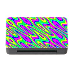 Lilac Yellow Wave Abstract Pattern Memory Card Reader With Cf by Celenk