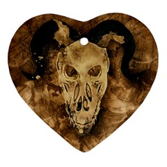 Skull Demon Scary Halloween Horror Ornament (heart)