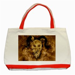 Skull Demon Scary Halloween Horror Classic Tote Bag (red)