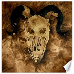 Skull Demon Scary Halloween Horror Canvas 12  X 12   by Celenk